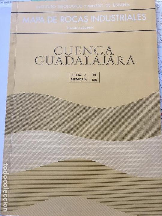 MAPA DE ROCAS INDUSTRIALES E. 1:200.000: CUENCA Y GUADALAJARA. HOJA 46 DIVISION 6/6 (Libros de Segunda Mano - Ciencias, Manuales y Oficios - Paleontología y Geología)