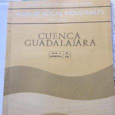 Livres d'occasion: MAPA DE ROCAS INDUSTRIALES E. 1:200.000: CUENCA Y GUADALAJARA. HOJA 46 DIVISION 6/6. Lote 107709539