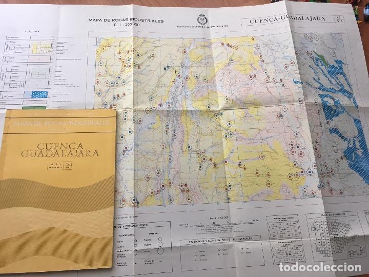Libros de segunda mano: MAPA DE ROCAS INDUSTRIALES E. 1:200.000: CUENCA Y GUADALAJARA. Hoja 46 DIVISION 6/6 - Foto 2 - 107709539