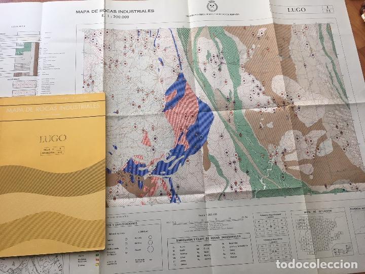 Libros de segunda mano: MAPA DE ROCAS INDUSTRIALES E. 1:200.000: LUGO. Hoja 8 DIVISION 2/2 IGME 1973 - Foto 2 - 107709755