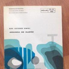 Libros de segunda mano: MAPA GEOTECNICO GENERAL ARANDA DE DUERO HOJA 5-4 30 MINISTERIO DE INDUSTRIA 1975 IGME. Lote 107716095