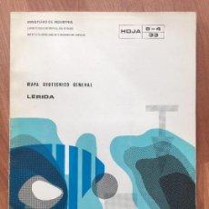 Libros de segunda mano: MAPA GEOTECNICO GENERAL LERIDA HOJA 8-4 33 MINISTERIO DE INDUSTRIA 1974 IGME LLEIDA. Lote 107716763