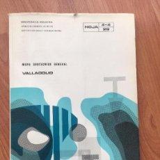 Libros de segunda mano: MAPA GEOTECNICO GENERAL VALLADOLID HOJA 4-4 29 MINISTERIO DE INDUSTRIA 1974 IGME. Lote 107716991