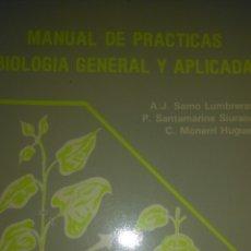 Libros de segunda mano: MANUAL DE PRÁCTICAS BIOLOGÍA GENERAL Y APLICADA. VARIOS AUTORES. UNIVERSIDAD POLITÉCNICA DE VALENCIA. Lote 107861888