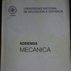 Libros de segunda mano de Ciencias: ADDENDA MECANICA UNED. Lote 108211947