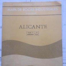 Libros de segunda mano: MAPA DE ROCAS INDUSTRIALES E. 1:200.000: ALICANTE HOJA Y MEMORIA 73 8/9 INSTITUTO GEOLÓGICO 1973. Lote 111352907