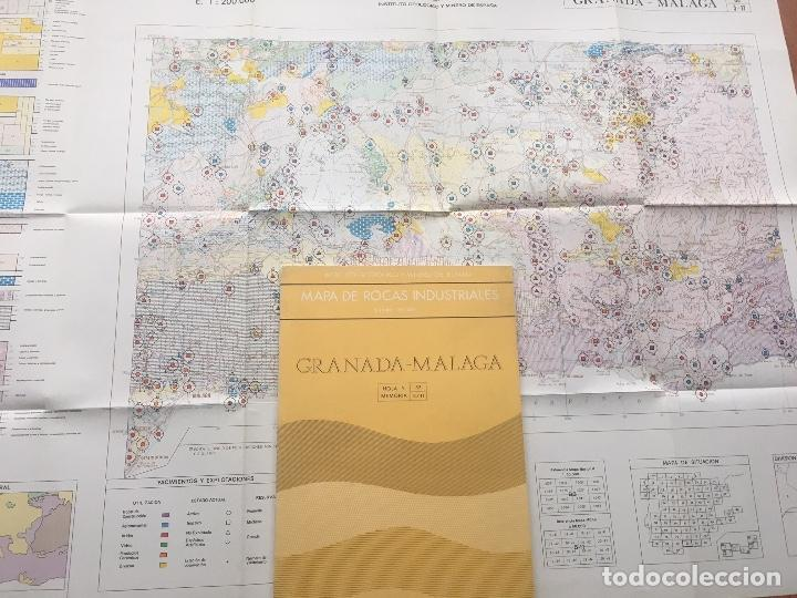 MAPA DE ROCAS INDUSTRIALES E. 1:200.000: GRANADA MALAGA . HOJA 83 MEMORIA 5/11 IGME (Libros de Segunda Mano - Ciencias, Manuales y Oficios - Paleontología y Geología)