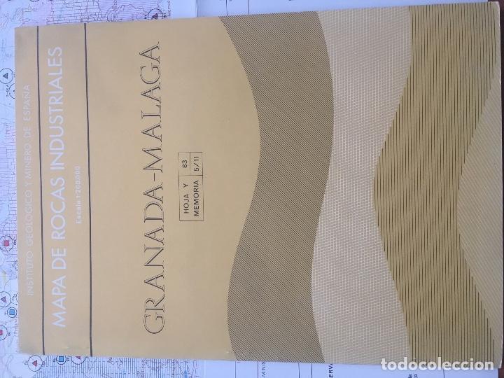 Libros de segunda mano: MAPA DE ROCAS INDUSTRIALES E. 1:200.000: GRANADA MALAGA . Hoja 83 memoria 5/11 IGME - Foto 2 - 108231463