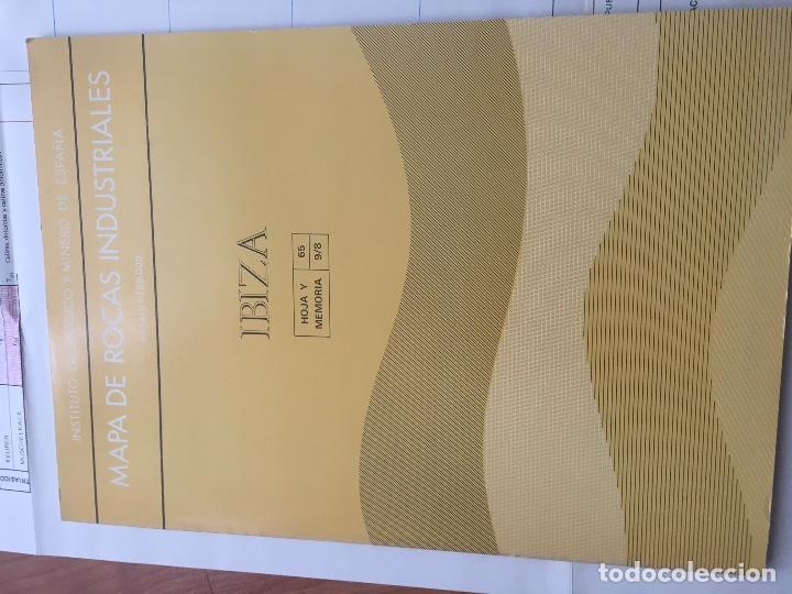 Libros de segunda mano: MAPA DE ROCAS INDUSTRIALES E. 1:200.000: IBIZA . Hoja 65 memoria 9/8 IGME - Foto 2 - 108231795