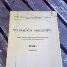 Libros de segunda mano: MINERALOGÍA DESCRIPTIVA. TOMO I. 1973. REIMPRESIÓN CESIC. VER TODAS LAS FOTOS. Lote 108384199