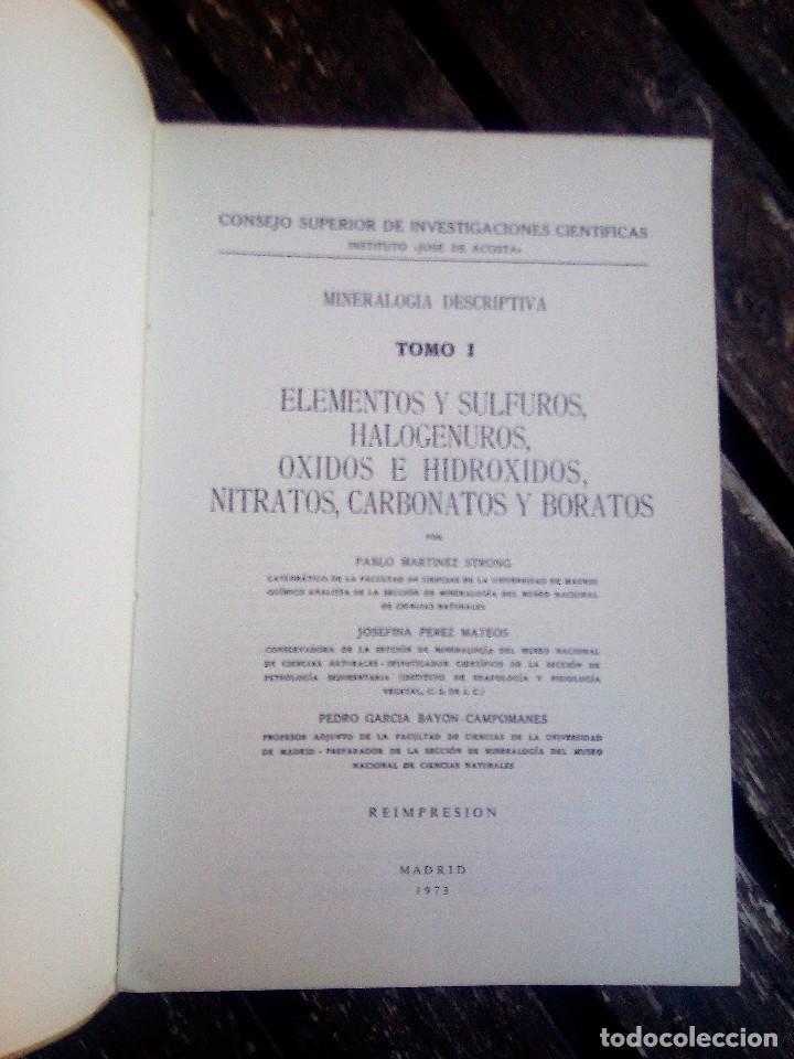 Libros de segunda mano: MINERALOGÍA DESCRIPTIVA. TOMO I. 1973. REIMPRESIÓN CESIC. VER TODAS LAS FOTOS - Foto 8 - 108384199