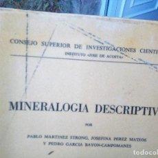 Livros em segunda mão: MINERALOGÍA DESCRIPTIVA TOMO II 1955. VER TODAS LAS FOTOS.. Lote 108385207