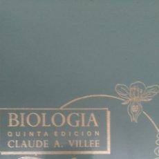 Libros de segunda mano: BIOLOGÍA. CLAUDE A. VILLEE. QUINTA EDICIÓN. EDITORIAL INTERAMERICANA. 1968. CARTONÉ. PÁGINAS 688. PE. Lote 108440375