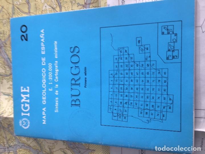 Libros de segunda mano: MAPA GEOLOGICO DE ESPAÑA E: 1:2000000 BURGOS IGME PRIMERA EDICION 1970 - Foto 2 - 108462467