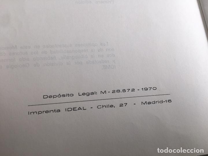 Libros de segunda mano: MAPA GEOLOGICO DE ESPAÑA E: 1:2000000 BURGOS IGME PRIMERA EDICION 1970 - Foto 3 - 108462467