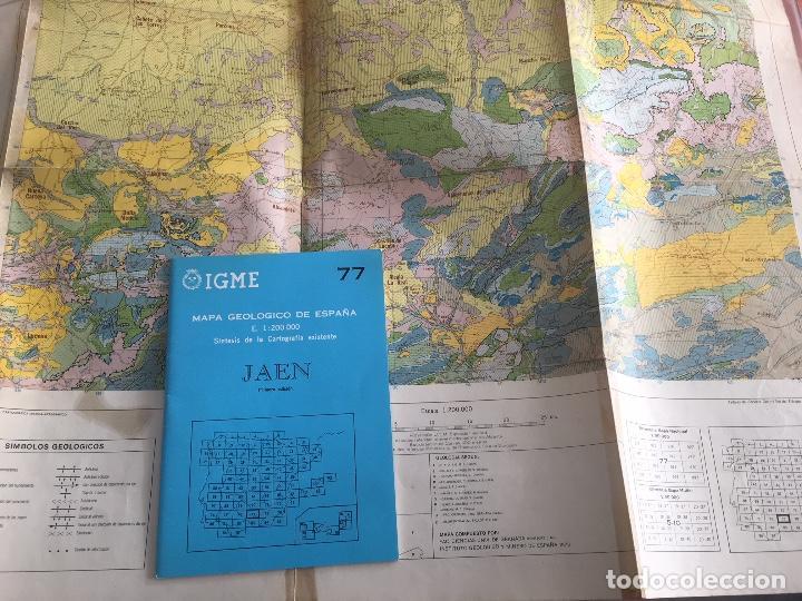 MAPA GEOLOGICO DE ESPAÑA E: 1:2000000 JAEN IGME PRIMERA EDICION 1972 (Libros de Segunda Mano - Ciencias, Manuales y Oficios - Paleontología y Geología)