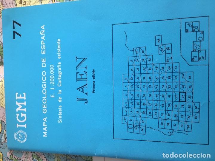 Libros de segunda mano: MAPA GEOLOGICO DE ESPAÑA E: 1:2000000 JAEN IGME PRIMERA EDICION 1972 - Foto 2 - 108462807