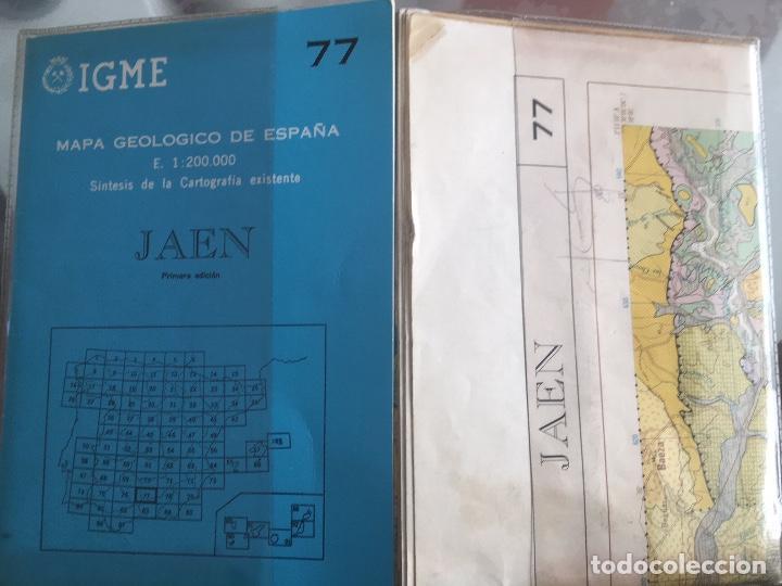 Libros de segunda mano: MAPA GEOLOGICO DE ESPAÑA E: 1:2000000 JAEN IGME PRIMERA EDICION 1972 - Foto 5 - 108462807