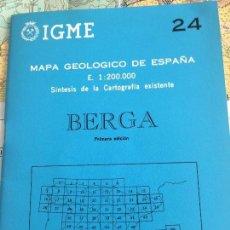 Libros de segunda mano: MAPA GEOLOGICO DE ESPAÑA E: 1:2000000 BERGA IGME PRIMERA EDICION 1971. Lote 108463267