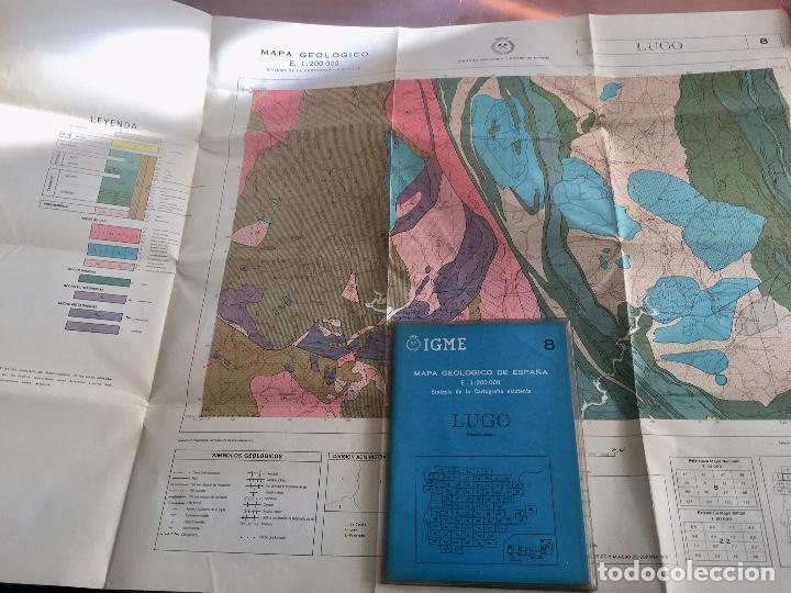 MAPA GEOLOGICO DE ESPAÑA E: 1:2000000 LUGO IGME PRIMERA EDICION 1971 (Libros de Segunda Mano - Ciencias, Manuales y Oficios - Paleontología y Geología)