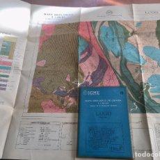 Libros de segunda mano: MAPA GEOLOGICO DE ESPAÑA E: 1:2000000 LUGO IGME PRIMERA EDICION 1971. Lote 108463847