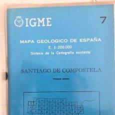 Livros em segunda mão: MAPA GEOLOGICO DE ESPAÑA E: 1:2000000 SANTIAGO DE COMPOSTELA IGME PRIMERA EDICION 1971. Lote 108465051