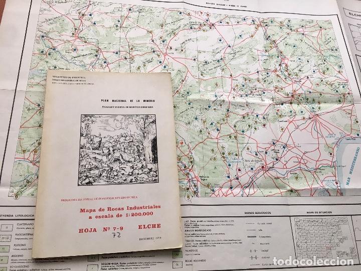 Libros de segunda mano: MAPA DE ROCAS INDUSTRIALES ESCALA 1:200.000 N 72 HOJA 7-9 ELCHE 1971 INV MINERA IGME - Foto 6 - 108703435