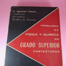 Libros de segunda mano de Ciencias - libro-problemas de física y química de grado superior contestados-.d.iglesias vacas-1962 - 108714359