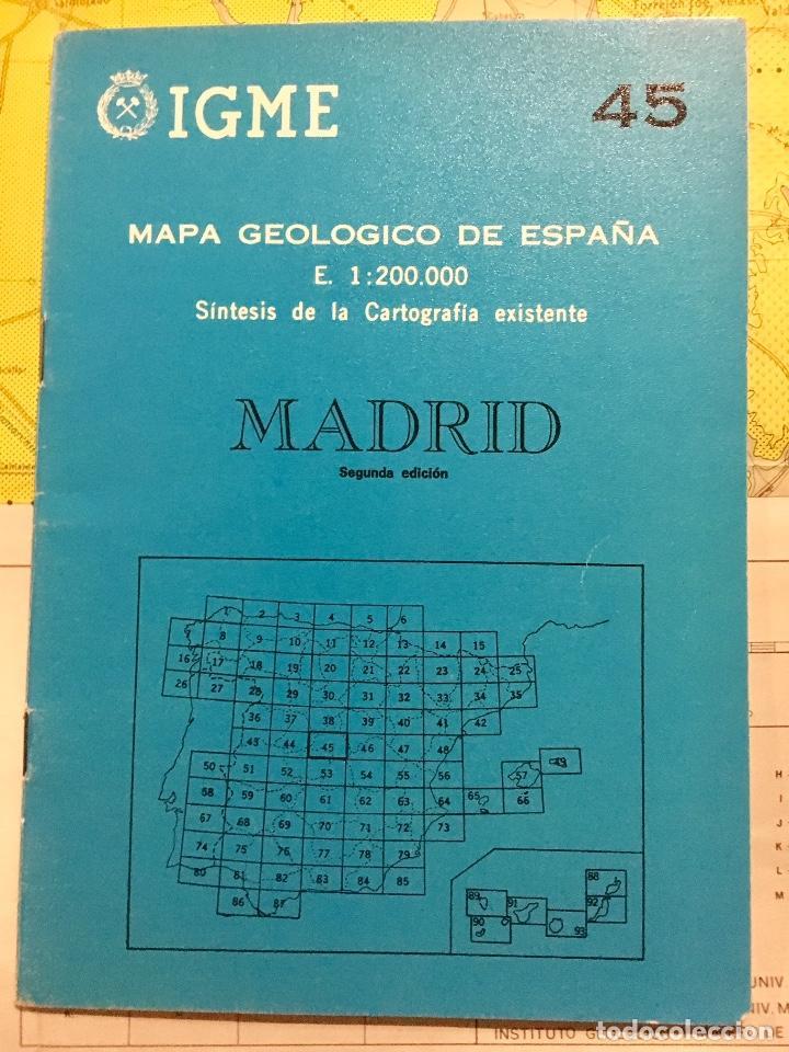 MAPA GEOLOGICO MADRID E: 1: 200.000 CARTOGRAFIA IGME 2 EDICION 1980 (Libros de Segunda Mano - Ciencias, Manuales y Oficios - Paleontología y Geología)