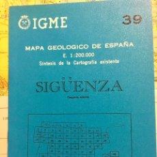 Libros de segunda mano: MAPA GEOLOGICO DE ESPAÑA SIGUENZA E: 1: 200.000 CARTOGRAFIA IGME 2 EDICION 1981. Lote 108737727