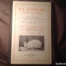 Libros de segunda mano: EL CONEJO, LA LIEBRE Y EL LÉPORIDO MANUAL PRÁCTICO EDICIONES MENPHIS, S.L. 1942 TAPA DURA. Lote 108980591