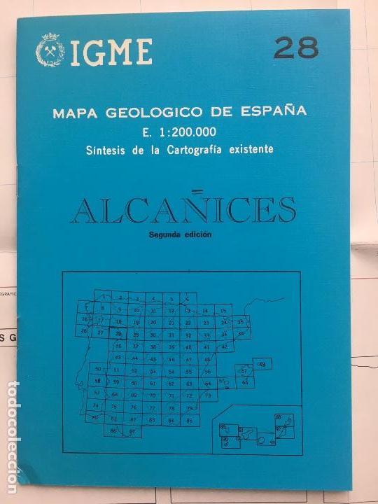 MAPA GEOLÓGICO DE ESPAÑA - ALCAÑICES - IGME E 1: 200.000 1987 2 EDICIÓN (Libros de Segunda Mano - Ciencias, Manuales y Oficios - Paleontología y Geología)