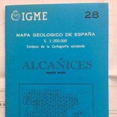 Libros de segunda mano: MAPA GEOLÓGICO DE ESPAÑA - ALCAÑICES - IGME E 1: 200.000 1987 2 EDICIÓN. Lote 109108067