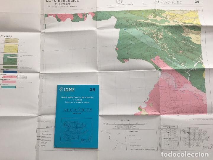 Libros de segunda mano: MAPA geológico de España - Alcañices - IGME E 1: 200.000 1987 2 edición - Foto 2 - 109108067