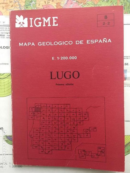 MAPA GEOLÓGICO DE ESPAÑA - LUGO - IGME E 1: 200.000 PRIMERA EDICION 1982 (Libros de Segunda Mano - Ciencias, Manuales y Oficios - Paleontología y Geología)
