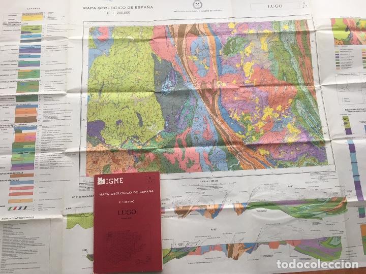 Libros de segunda mano: Mapa geológico de España - LUGO - IGME E 1: 200.000 PRIMERA EDICION 1982 - Foto 2 - 109108523