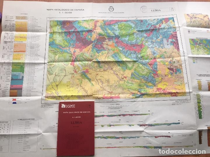 Libros de segunda mano: Mapa geológico de España - LLIRIA - IGME E 1: 200.000 PRIMERA EDICION 1985 - Foto 2 - 109108703