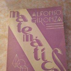 Libros de segunda mano de Ciencias: LIBRO MATEMATICAS CUARTO CURSO - AÑO 1962. Lote 109119171