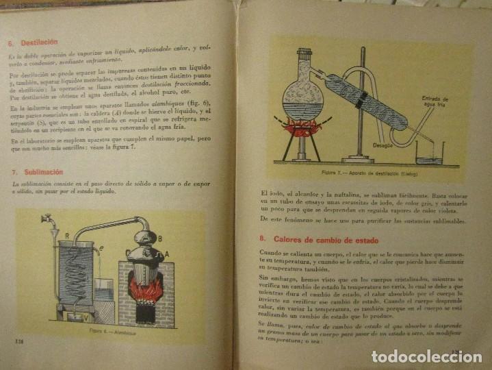 Libros de segunda mano de Ciencias: FISICA Y QUIMICA. Cuarto curso, Edelvives, Luis Vives. 1966. - Foto 6 - 109287479