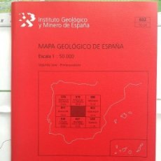 Libros de segunda mano: MAPA GEOLOGICO DE ESPAÑA NAVAMORCUENDE ESCALA 1: 50.000 SEGUNDA SERIE 1 EDICION IGME. Lote 109296807