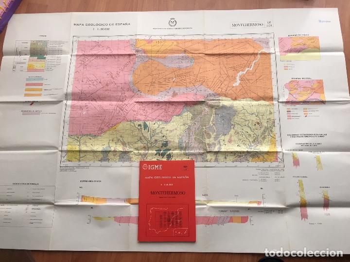 Libros de segunda mano: MAPA GEOLOGICO DE ESPAÑA MONTEHERMOSO ESCALA 1: 50.000 SEGUNDA SERIE 1 EDICION IGME - Foto 2 - 109296979