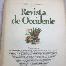 Libros de segunda mano de Ciencias: ARTÍCULOS CIENTÍFICOS REVISTA DE OCCIDENTE 1950 SELECCIÓN Y RECUERDO VARIOS AUTORES INTONSO. Lote 109364983
