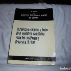Libros de segunda mano: EL PALEOZOICO INFERIOR Y MEDIO DE LA CORDILLERA CANTABRICA ENTRE LOS RIOS PORMA Y BERNESGA(LEON). Lote 109613611