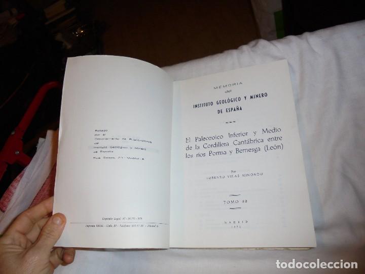 Libros de segunda mano: EL PALEOZOICO INFERIOR Y MEDIO DE LA CORDILLERA CANTABRICA ENTRE LOS RIOS PORMA Y BERNESGA(LEON) - Foto 3 - 109613611