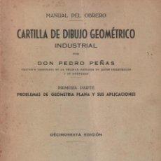 Libros de segunda mano de Ciencias: CARTILLA DE DIBUJO GEOMETRICO INDUSTRIAL POR DON PEDRO PEÑAS / MUNDI-2983. Lote 109736711