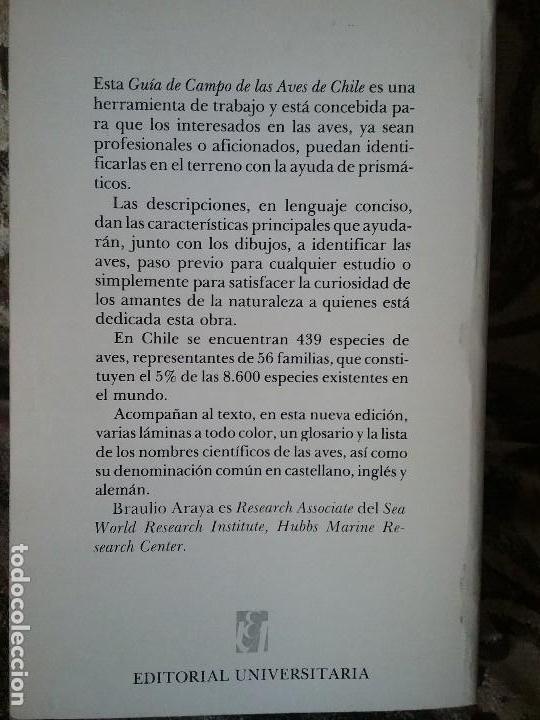 Libros de segunda mano: Guia de campo de las aves de Chile, por Araya y Millie. Ilustrada (Ornitología) - Foto 3 - 110126255