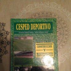 Libros de segunda mano: CÉSPED DEPORTIVO DOMINGO MERINO, JAVIER ANSORENA. Lote 110892027