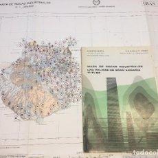 Libros de segunda mano: MAPA DE ROCAS INDUSTRIALES LAS PALMAS DE GRAN CANARIA 11-11/93 ESCALA 1/200.000 1973 MINISTERIO. Lote 111358739