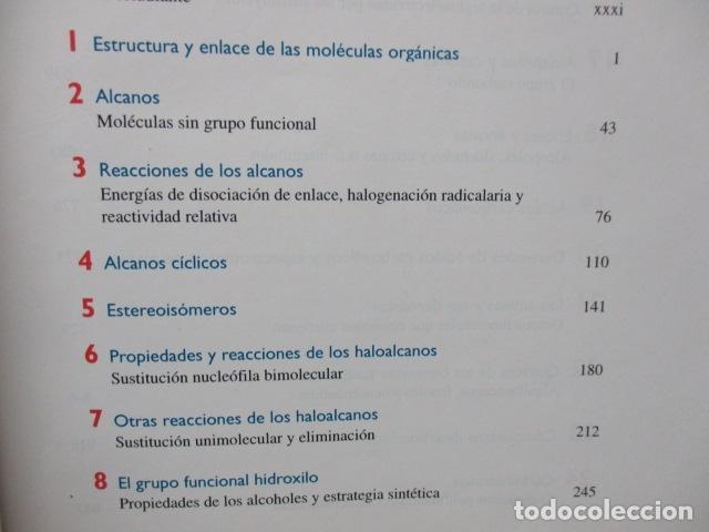 Libros de segunda mano de Ciencias: Química Orgánica. Por K. Peter C. Vollhardt y Neil E. Schore. Ediciones Omega - Foto 10 - 111523059