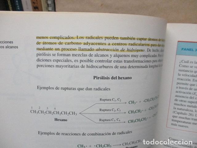 Libros de segunda mano de Ciencias: Química Orgánica. Por K. Peter C. Vollhardt y Neil E. Schore. Ediciones Omega - Foto 19 - 111523059